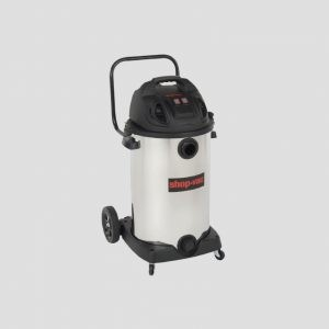 a stainless steel Shop-Vac 80-Litre wet and dry vacuum cleaner