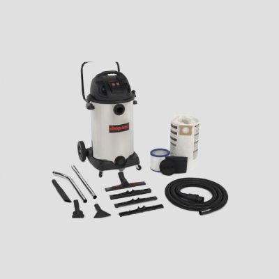 a Shop-Vac 80-Litre vacuum cleaner and accessories