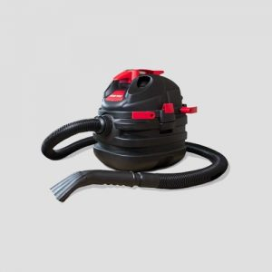 a black plastic Shop-Vac Hawkeye wet dry builders vacuum cleaner