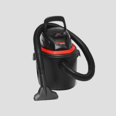 a Shop-Vac Micro 4 Handheld wet and dry vacuum cleaner on a grey background