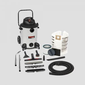 a Shop-Vac Pro60si vacuum cleaner and accessories