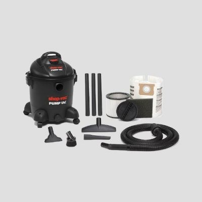 a Shop-Vac Pump Vac wet dry vacuum cleaner and accessories