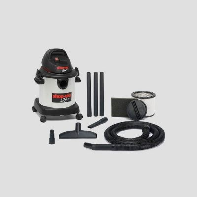 a Shop-Vac Super 20si stainless steel vacuum cleaner and accessories