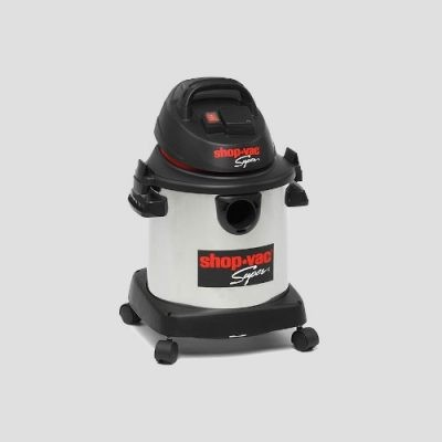 a stainless steel Shop-Vac Super 20s wet and dry vacuum cleaner