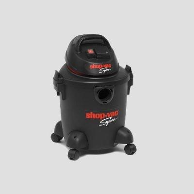 a Shop-Vac Super 20s black plastic wet and dry vacuum cleaner