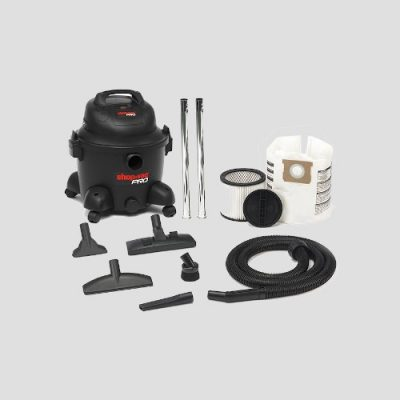 accessories view of a plastic shopvac pro25 wet and dry vacuum cleaner