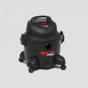 front view of a plastic shopvac pro25 wet and dry vacuum cleaner