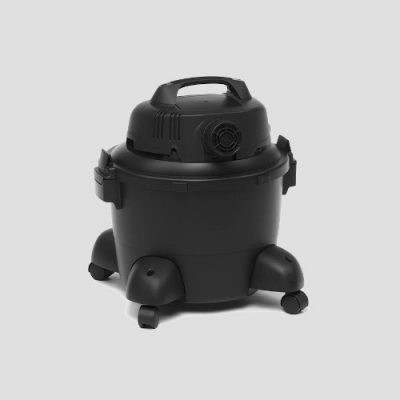 rear view of a plastic shopvac pro25 wet and dry vacuum cleaner